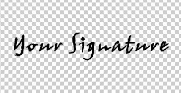 Signature-in-font