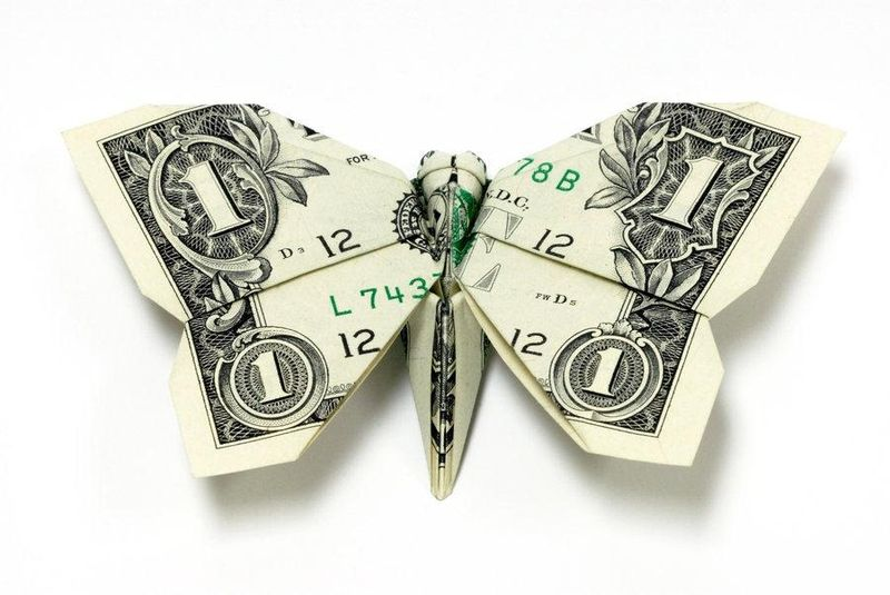 Dollar-bill-butterfly