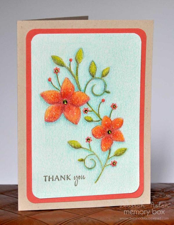 Image result for memory box vignette floral branch